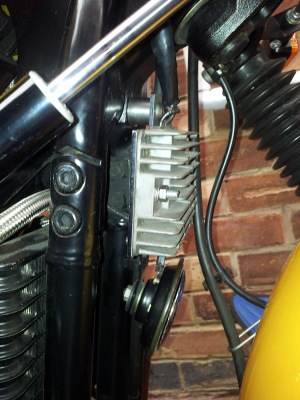 Rectifier Reloction Bracket from Triumph Custom Parts