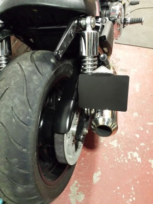 Side Mount No Plate from Triumph Custom Parts